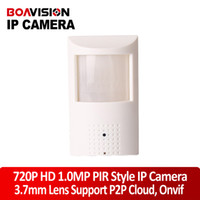 Wholesale Motion Detector HD PIR STYL HD H P IP Hidden Covert Camera wired IP Camera MP P2P Function Security Network Cameras Onvif