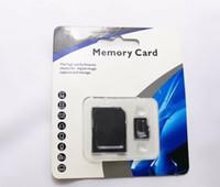 10 Tarjeta TF Clase nave de DHL caliente = Micro SD de memoria TF con el paquete al por menor Adaptador de Flash SD 2.0 60pcs SDHC USB de 128 GB