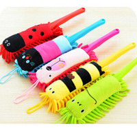 Cheap Free shipping Animal cartoon chenille duster computer dust dust cleaning brush 5pcs lot
