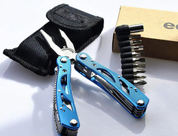 Wholesale Hot New Multi Tool Toolkit Opener Outdoor Screwdriver Kit Multi Pliers for Home Outdoor Black Red Blue CW0221