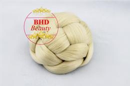 Wholesale Silver Clip Hair Extensions - Wedding Jessica Simpson Hairdo Chignon Clip In Bun Hair Ginger BHD664