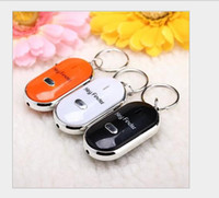 Wholesale 60PCS LED Key Finder Locator Find Lost Keys Mobile Wallet Chain Mobile finder Purse Finder Keychain Whistle Sound Control