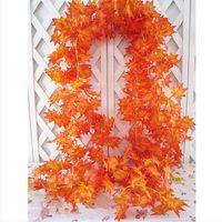 artificial maple - x Artificial Fall Maple Leaf Garland Silk Vine Wedding Garden Decor Decoration