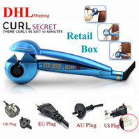 Wholesale Pro Perfect Automatic Curl Hair Curlers BAB Hair Roller Curl Curling Salon Hair Iron Machine Wands US EU UK Plugs in Retail Package Free DHL