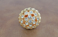 Wholesale Golden Diamond Crystal Knobs Gold Kitchen Cabinet Hardware Drawer Door Knob