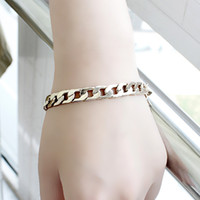 Wholesale 2014 Fashion Concise Gold Color Chain Bracelet for Women Factory Price New Arriva