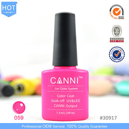 Wholesale CANNI Colors Shellac UV LED Nail Polish Gel OEM ODM