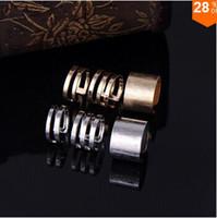 polished rocks - 2014 hottest Shiny Punk Polish Gold Stack Plain Band Midi Finger Knuckle Ring Set high quality Rock E shine Jewelry TJ001