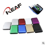 Wholesale Fashion Hot Selling Aluminium Credit Card Wallets Cases Card Holders Bank Card Box Case Aluminum Wallet with box About Colors