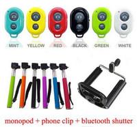 Free DHL Extendable Handheld Self portrait Monopod selfie st...