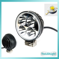 Wholesale 4 quot inch LED Work Light V V W Cree LED Car Light Spot Flood Lamp for Motorcycle Tractor Truck Trailer SUV JEEP Off Roads Boat