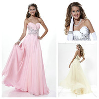 2015 Pink Sweetheart Party Dresses Ruffled Chiffon Prom Dres...