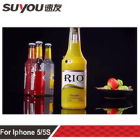 Wholesale 3D Glass of Wine Sour Rio Cocktail beer bottle phone Case cover For iphone S