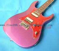 Cheap Slim neck purple single shake Lou Silver Lightning Guitar ELECTRIC GUITAR empty double shipping F-1559