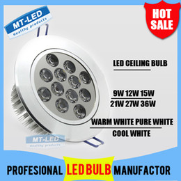 Wholesale DHL SHIPPING High power Led ceiling lamp W W W W W W Led Bulb V LED lighting led light spotlight down light with led drive