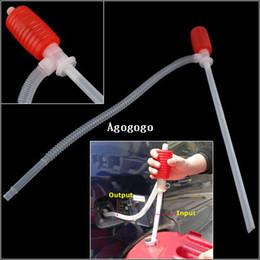 Practical Manual Car Siphon Hose Gas Oil Water Liquid Transfer Hand Pump Sucker #26709