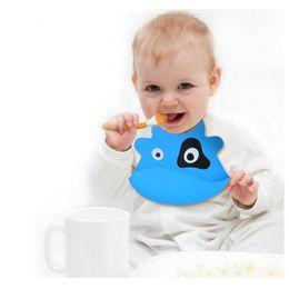 Wholesale Infant Feeding Bib Baby Kid Bib Silicone Cartoon Bibs Waterproof Silica Gel For Baby