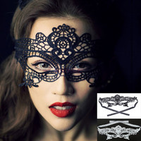 Wholesale Sexy Halloween Masquerade Lady Exquisite Lace Half Face Mask New Arrival Wedding Party Masks White Black SV003077