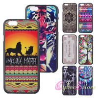 Wholesale For inches iphone Colorful Flower Hot Lips Aztec Tribal Tribe Stripe Lady deer Hard PC plastic Back Case Cover for iphone6 G
