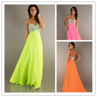 Cheap 2015 Orange Sweetheart Party Dresses Ruffled Chiffon P...