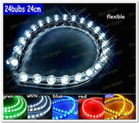 Holiday led decoration light - 20pcs cm PVC Flexible LED strip light Car Decoration Light White Red Yellow Blue Green Color