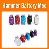Cheap Colorful Hammer Pipe Mod Hammer Battery Body Pipe Battery Mod for 510 Thread Atomizer E Cigarette Free Shipping 0207032