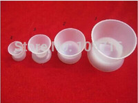Cheap New Dental Lab Equipment Washable Flexible Silicone Mixing Bowl Cup 4 pcs set