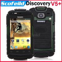 GSM850 Android No Brand Discovery V5+ MTK6572 Dual Core Waterproof Dustproof Shockproof 3.5 Inch Android Cell Phone Smartphone 2.0MP 3G WIFI Android 4.2