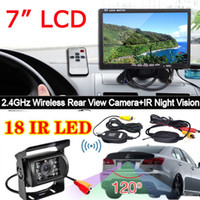 backup camera system - 7 quot LCD Monitor Car Rear View System LEDs Night Vision Wireless Reversing Car Reverse Backup Camera for Bus Long Truck Trailer