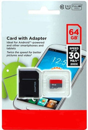 2015 128GB 64GB 32GB C10 UHS-I Micro SD Memory Card Free SD Adapter Retail Blister Package microSD SDHC 128G 64GB 32GB for free dropshipping