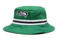 Wholesale Seahawk Bucket Hats Football Caps Green Fisherman Hats Cap Hot Sale Womens Mens Sports Cap High Quality Outdoor Headwears All Team