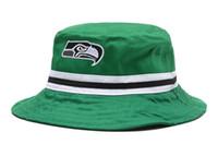 Wholesale Seahawks Bucket Hats Football Caps Green Fisherman Hats Cap Hot Sale Womens Mens Sports Cap High Quality Outdoor Headwears All Team