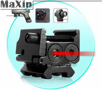 adjustable pistol sights - Mini Adjustable Compact Red Dot Laser Sight Fit For Pistol gun with Rail Mount mm