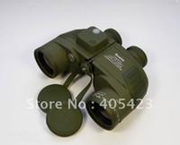 Army Green Binoculars Rangefinder - H Q Binoculars Telescope Waterproof Night Vision Navy BINOCULARS With RANGEFINDER and Compass RETICLE illuminant