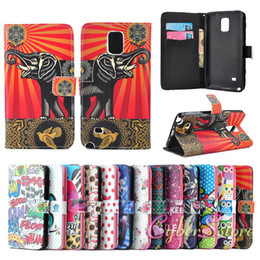 For Samsung Note 4 Owl Aztec Stripe Design Wallet Leather Case Cover With Credit Card Stand Holder for Galaxy Note4