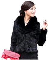 Wholesale 2014women s new year clothes winter coat fur short design fur coat leather overcoat
