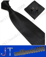 Wholesale Men s Tie Cuff Links Handkerchief Set SILK New Christmas Gift MYY2688A