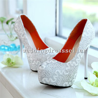 Cheap New Arrival!!! Shiny Glitter Silver Lace High Heels Bridal Shoes Wedding Bridesmaid Shoes Party Prom Shoes