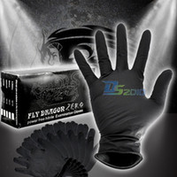 latex gloves free powder - 100PCS S M L XL Sterile Black Nitrile Piercing Tattoo Gloves Powder Latex Free