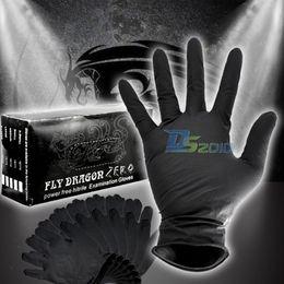 Wholesale 100PCS S M L XL Sterile Black Nitrile Piercing Tattoo Gloves Powder Latex Free