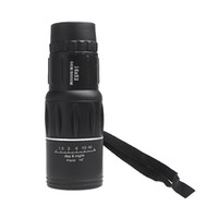Cheap Wholesale-New 16X52 Zoom Compact Sports Monocular Telescope Spotting Scope for Outdoor Traveling Hiking Camping Black High Quality