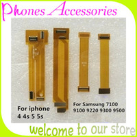 Cheap LCDTesting Flex Cable for Cell Phone LCD Touch Screen Test Cable for iphone 4 4s 5 5s Samsung Protector Connector Cable Yellow 10PCS Lot