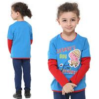 Cheap Cute Kids Clothes Baby Boys Peppa Pig George Pig Long Sleeve T Shirts Cartoon Tees Top Sweatshirt M1429