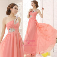 Only $53. 99 Long Chiffon Prom Dresses 2015 One Shoulder Bead...