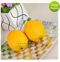 Wholesale New Artificial Lemon Simulation Art Fruits For Home Decor Christmas Wedding Decoration Photography Props Baby Toys