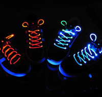 Cheap Generation 1 2 3 Colorful Neon LED Flashing Shoelaces Disco Party Light up Laser Shining Shoe laces with Retail Packing 20pcs=10 pair