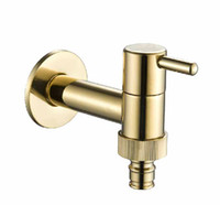 Wholesale New Golden Polished Bathroom Washing Machine Faucet Single Handle For Cold Water