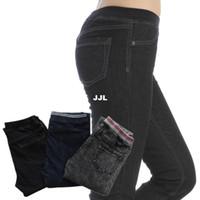 Wholesale DJX603 New Fashion Ladies Cotton Jeans Skinny Pants Women Elastic Waist Plus Size Denim Jeans Pencil Pants Trousersautumn pants