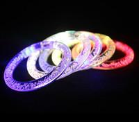 Wholesale LED bracelet acrylic flash bracelet LED Colorful LED crystal bracelet bracelet holiday party supplies