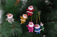 Wholesale Christmas Tree Decorations Santa Claus Pendant Small Father Christmas Hanging Ornaments Xmas Kriss Kringle Colors Factory Price Free UPS